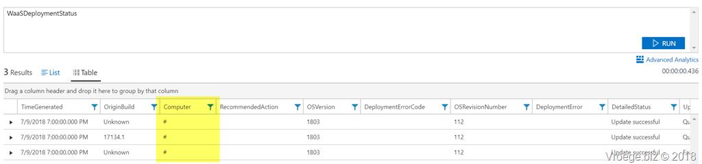 Windows 10 1803 device names in Windows analytics – The