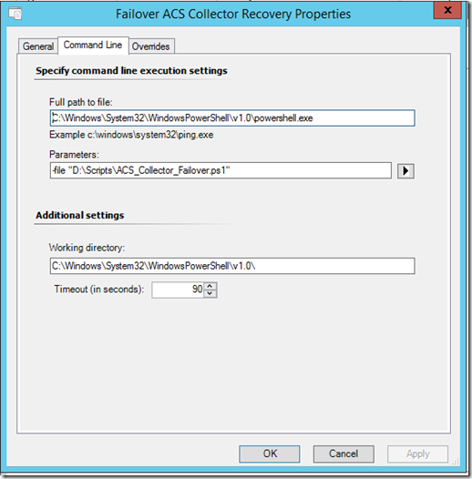 SCOM 2012 ACS: Powershell Collector (automatic) failover