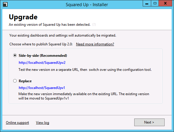 squaredupv2-installer-upgrade